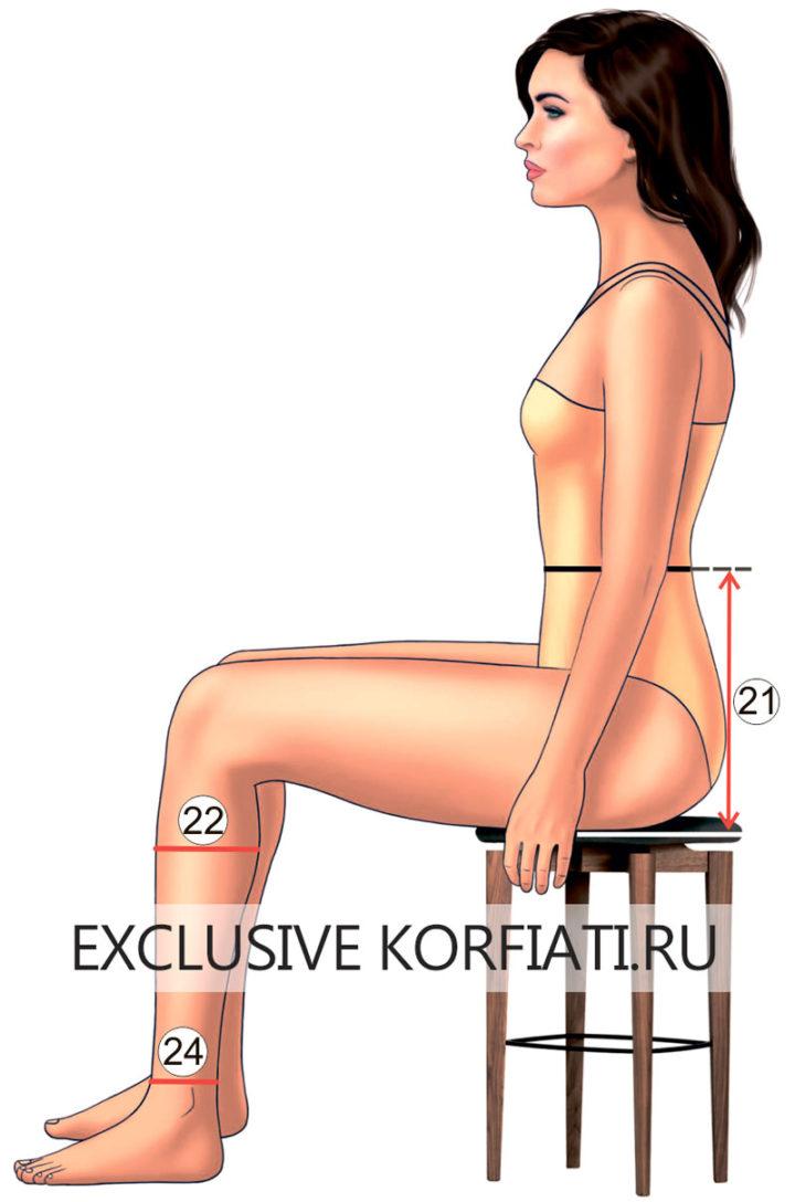 Снятие мерки Высота сидения