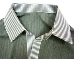Рубашечный воротник на стойке в готовом виде