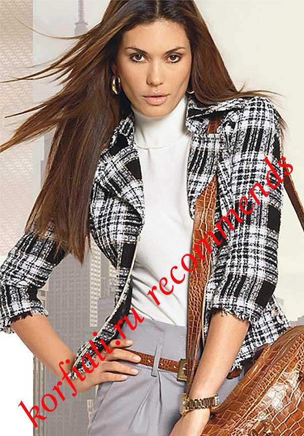 пиджак женский с отворотами