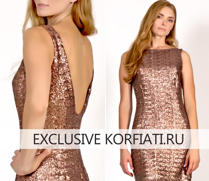 Фото - Платье из ткани с пайетками диаметром 5 мм
