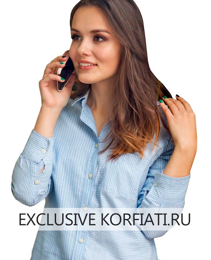 Итальянская манжета на женской рубашке - фото на модели