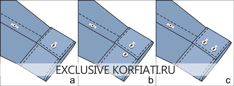 Чертежи застежек прямоугольных манжет