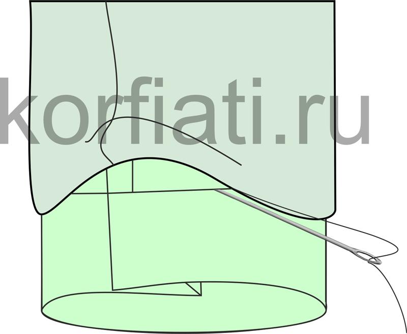 Технология обработки рукава со шлицей - подкладка