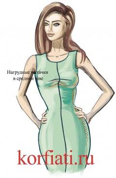 Моделирование одежды - вытачки в среднем шве