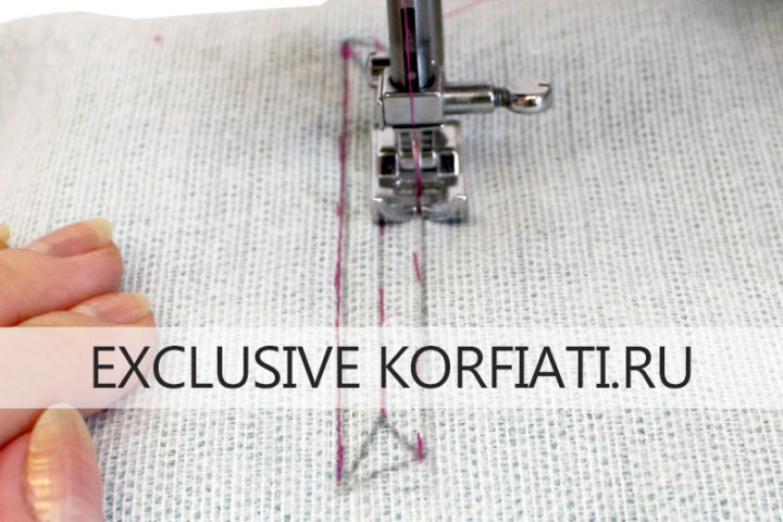 Обработка кармана с накладной листочкой