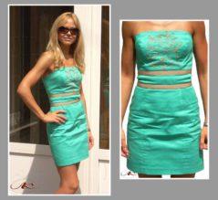 Как расшить платье сутажной лентой