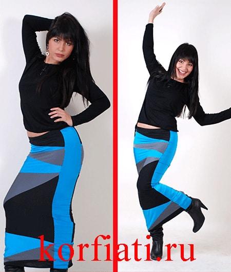 Платье трансформер преобразуется в юбку