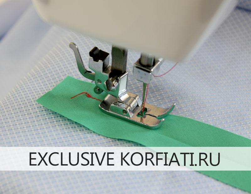 Обработка разреза рукава листочкой и обтачкой - притачать обтачку