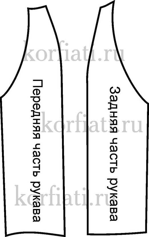 Выкройку рукава с регланом