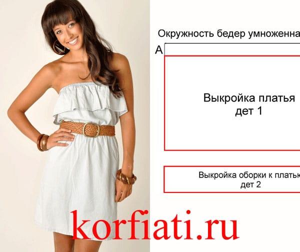 7498f5944ee Как сшить летнее платье - выкройка от А. Корфиати