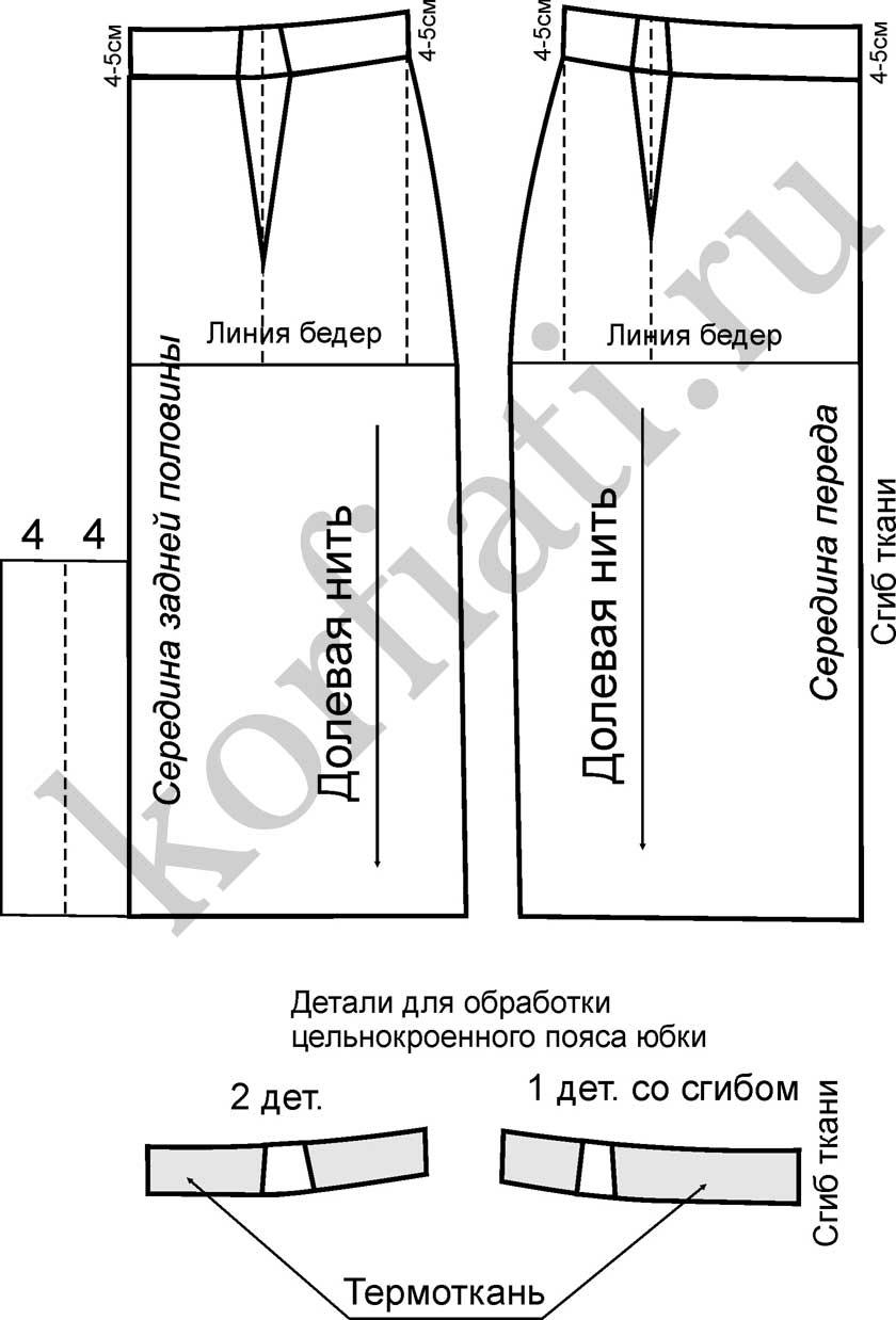 Моделирование Юбки Карандаш С Завышенной Талией