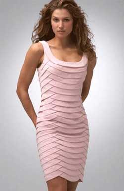 Выкройка коктейльного платья для полных женщин.  Данная модель платья.