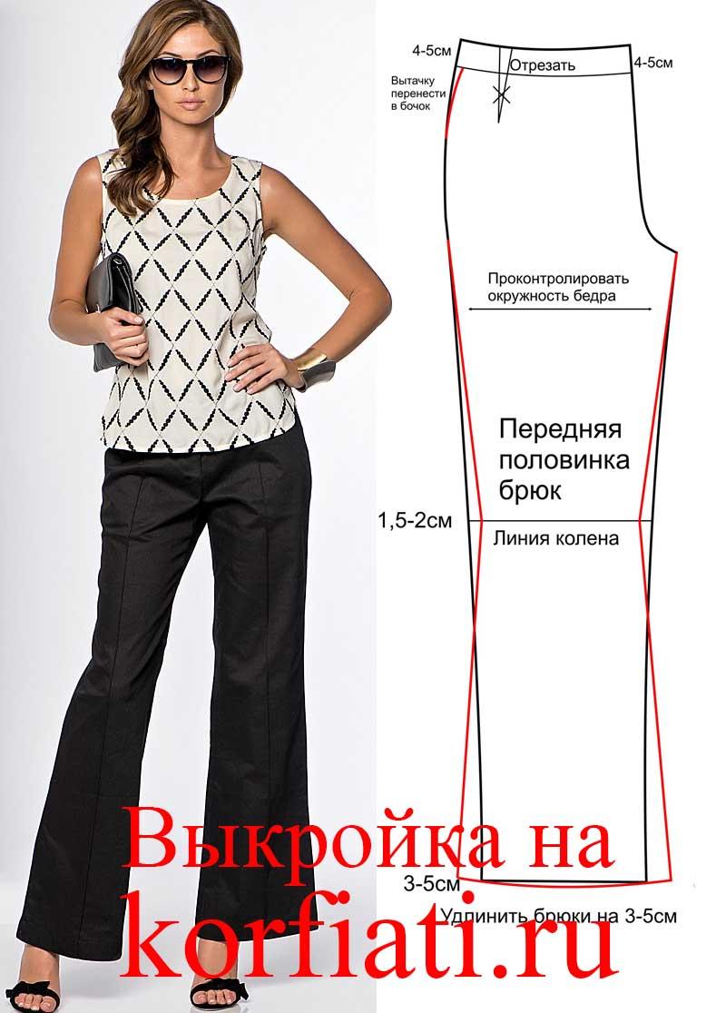 Как сшить красивые брюки женские 32