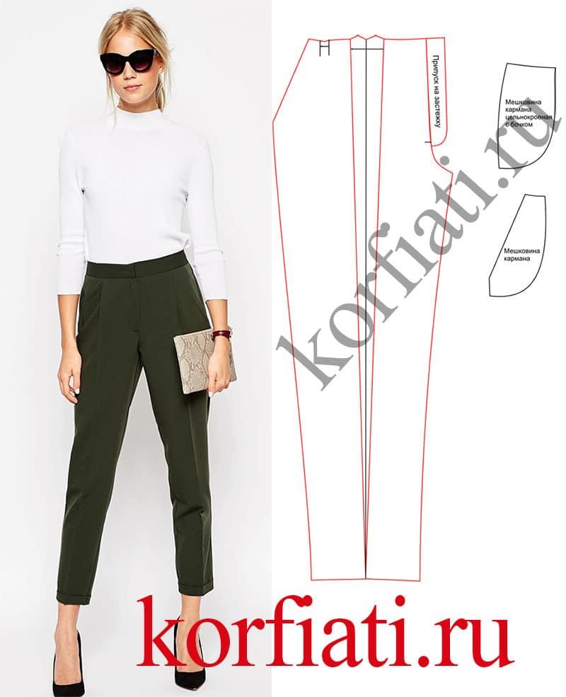 Сшить брюки женские выкройки 183