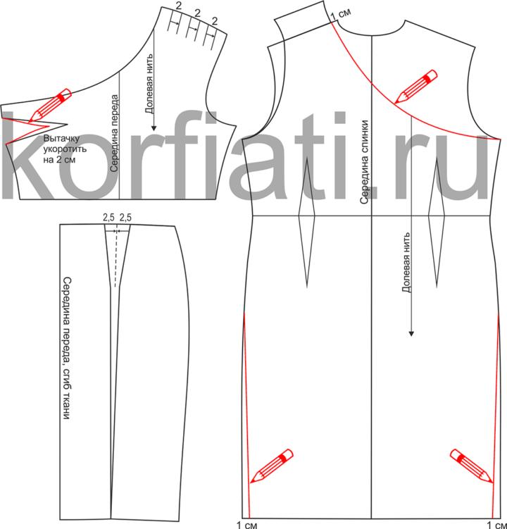 Как сшить платье на одно плечо - моделирование изделия