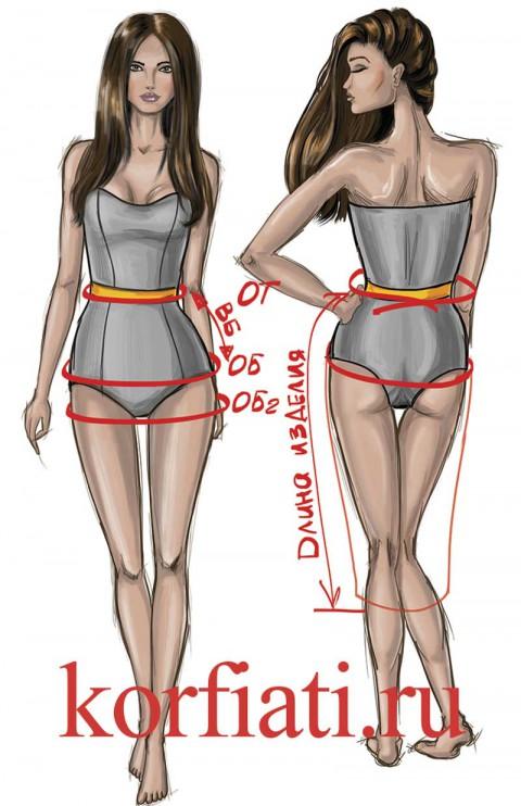Как снять мерки на юбку