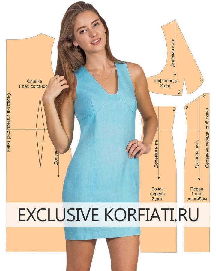 Выкройка платья из льна фото