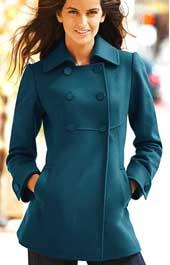 как сшить пальто бирюзовое