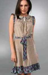 Платье с оборками выкройка