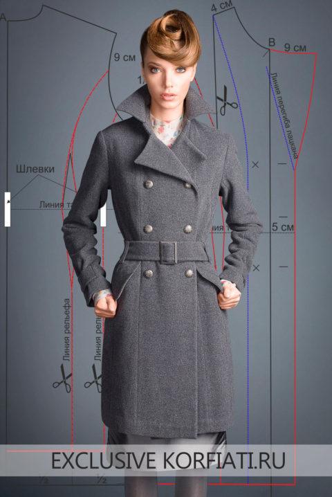 Выкройка классического пальто