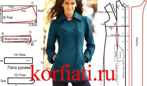 Построение выкройки бирюзового пальто