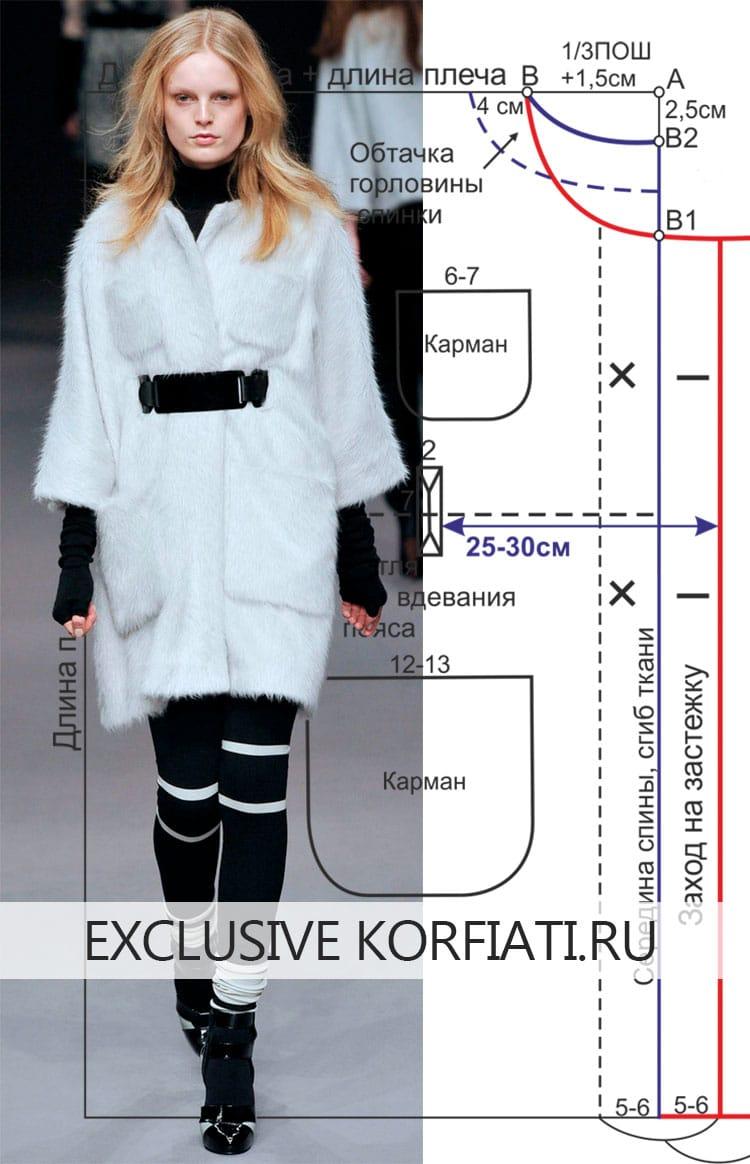 Выкройка пальто-накидки