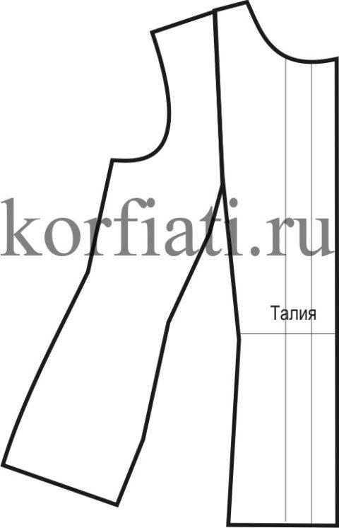 Как сшить блузку - выкройка переда
