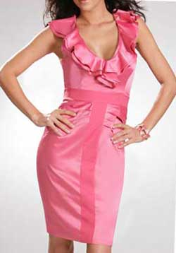 Платье с воланом - модель