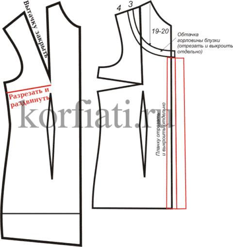 Выкройка шелковой блузки