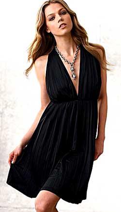 Выкройка трикотажного черного платья