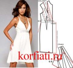 Белое-трикотажное-платье