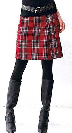 юбка со складками