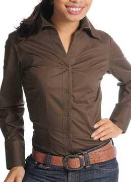 Сняла блузку