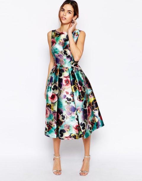 Выкройка цветочного платья