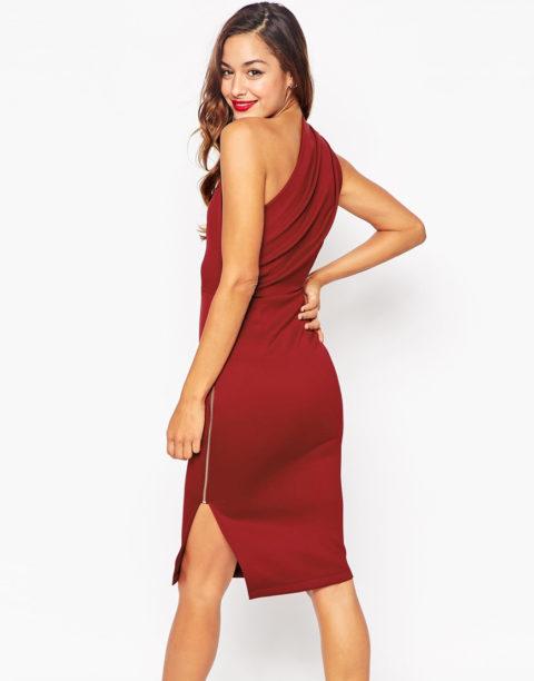 Выкройка платья на одно плечо