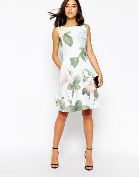Выкройка платья с расклешенной юбкой