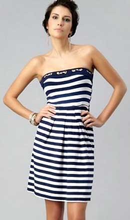 выкройка платья в морском стиле