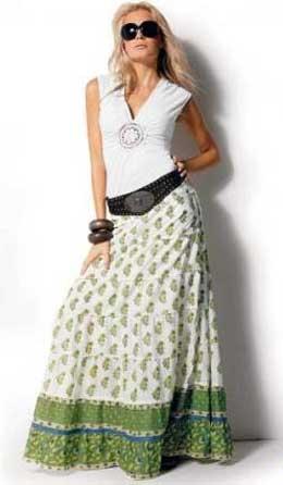 Длинная широкая юбка