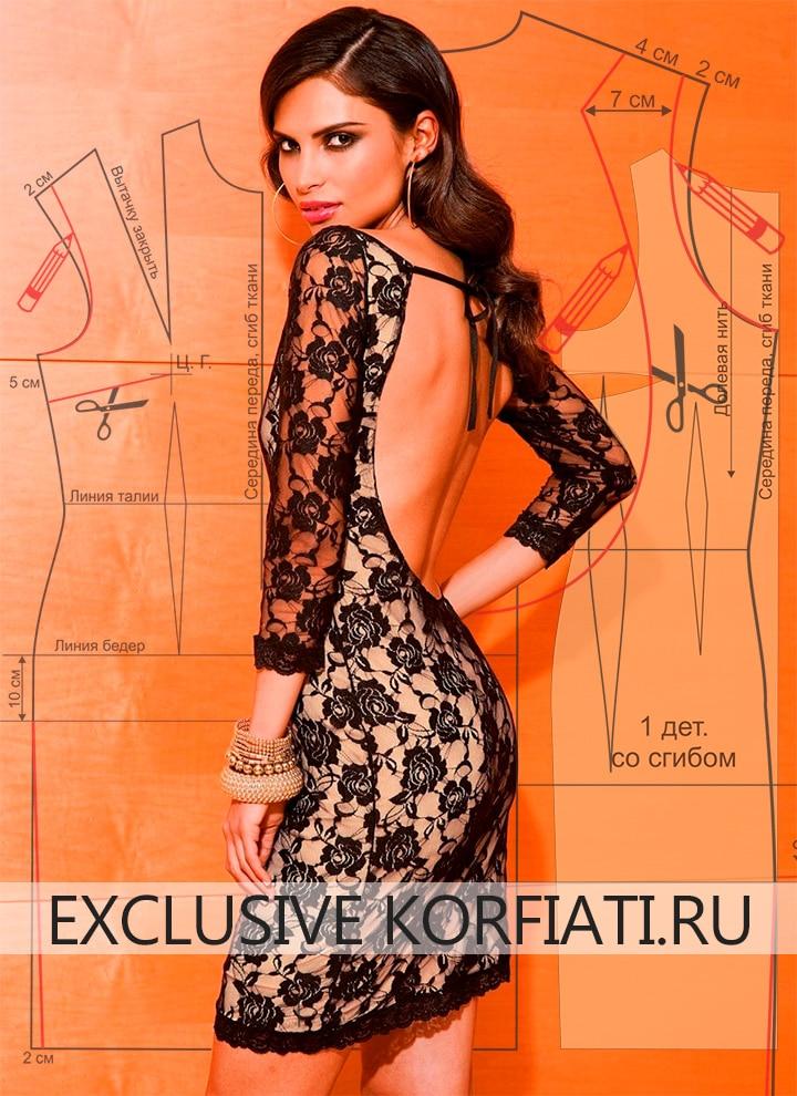 d63c2cc9c89 Выкройка платья с открытой спиной от Анастасии Корфиати