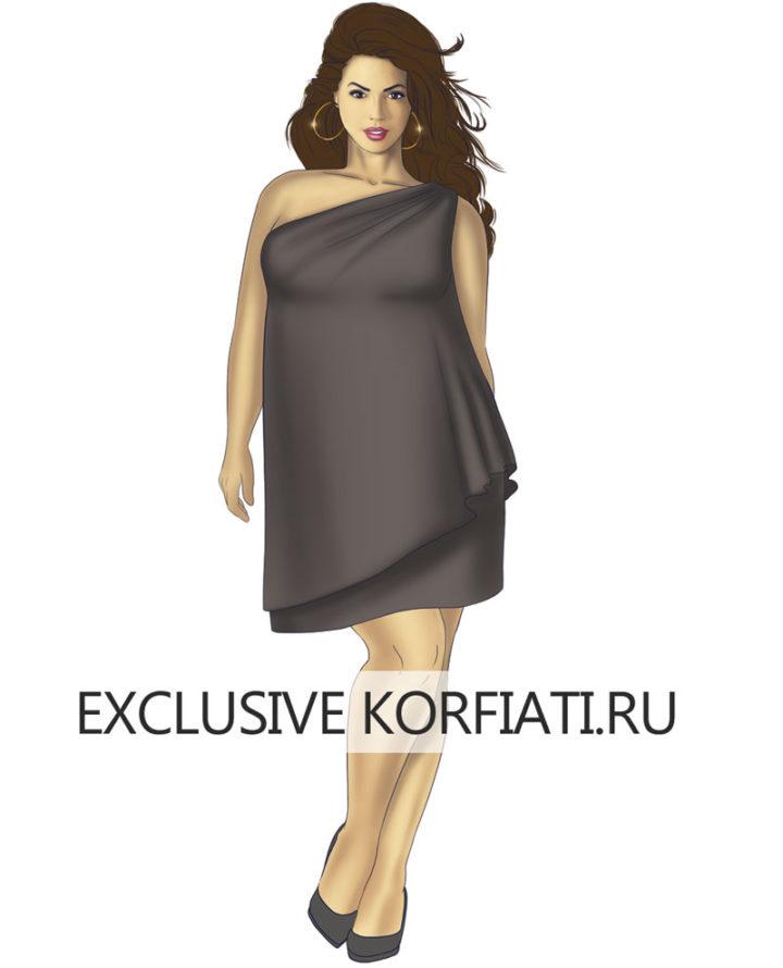 Платье на фигуру размера XL