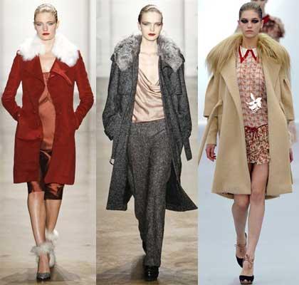 Пальто с мехом на осень