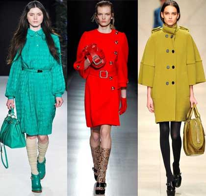 Цветное яркое пальто