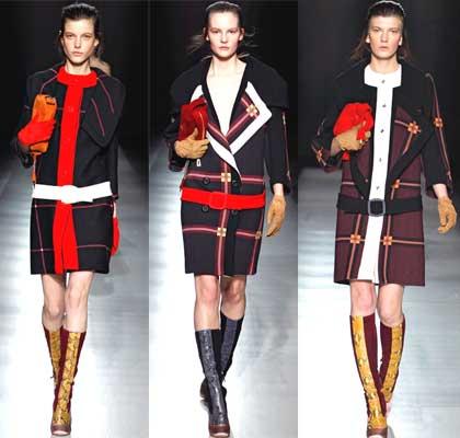 Красные нотки в пальто на осень