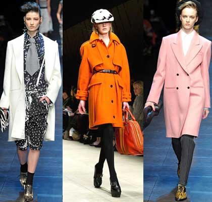 Яркие стильные типы пальто