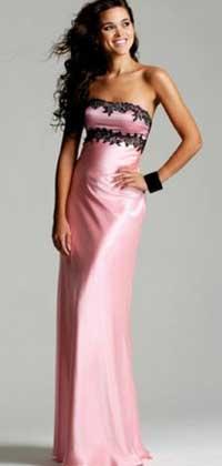 Розовое платье на торжество
