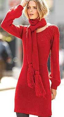 Красное платье для выхода из трикотажа