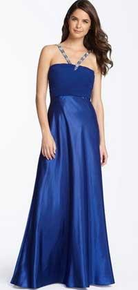 Великолепное синее платье для праздника