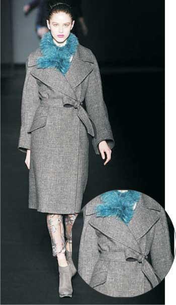 Пальто с большим воротником