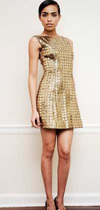 Праздничное короткое платье