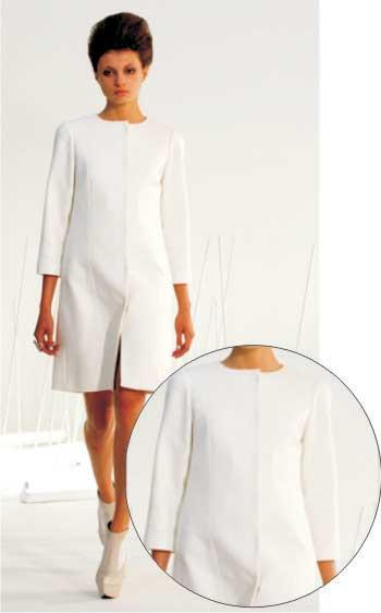 Элегантное белое пальто